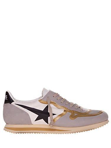 GOLDEN GOOSE HAUS SNEAKERS CUIR OR H28MS544.E68 TISSU TECHNIQUE