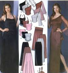 SIMPLICITY PATTERN 5301 MISSES' EVENING TOPS, SLIM & FLARED SKIRT, SHAWL,PURSE Sewing Pattern