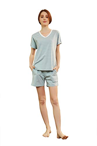 QIANXIU Women's Sleepwear, Cotton Sleep Short Sleeves Sleepshirt