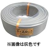 富士電線 ★切売販売★ カラーVVFケーブル 2.0mm×3心 1m単位切り売り (青) VVF2.0×3Cアオ