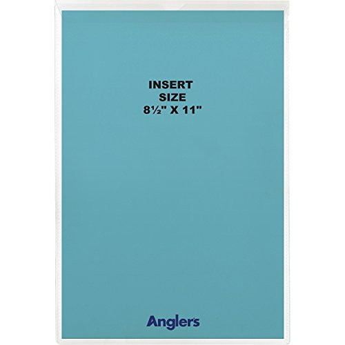 Anglers Sheet Protector (Anglers 1464FL10 Vinyl Envelope With Flap, 8-1/2