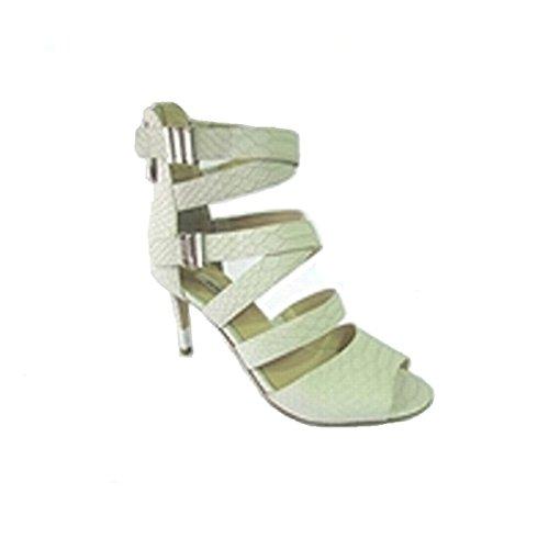 Scarpe Sandali Donna con cinturini Guess Mod. FL1CA2PEL09 Col. Bianco, Fantasia Pitonata.