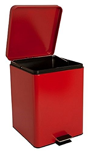 McKesson 81-35270 Entrust Waste Can, Steel, Square, 17-1/4'' Height, 11-3/4'' Width, 11'' Length, 5 gal, Red, Square by McKesson