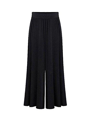 Ochenta Jambe Noir Large Pantalon 9 Evase 10 Bouffant Longeur Femme rwqCUrP