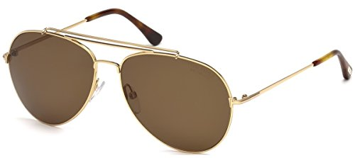 Tom Ford Sunglasses 0497 Indiana 28H Shiny Rose Gold Brown - Ford Tom Men Watches