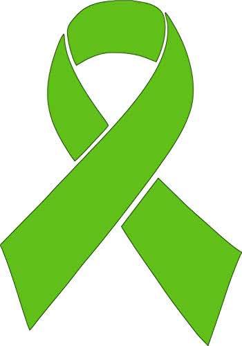 Barking Sand Designs Lime Green Lymphoma Cancer Ribbon Awareness Die Cut Vinyl Window Decal/Sticker for Car/Truck