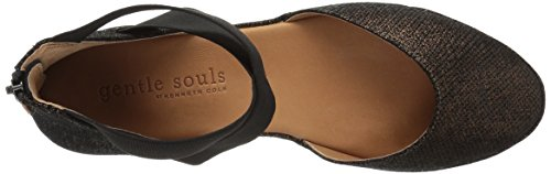 Gentle Souls Women's Noa Low Wedge Elastic Straps Pump, Medium Bronze