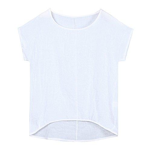 iLOOSKR Women Bat Sleeve Short Sleeve Shirt Casual Loose Top T-Shirt Pullover(White,XXXL) by iLOOSKR (Image #7)