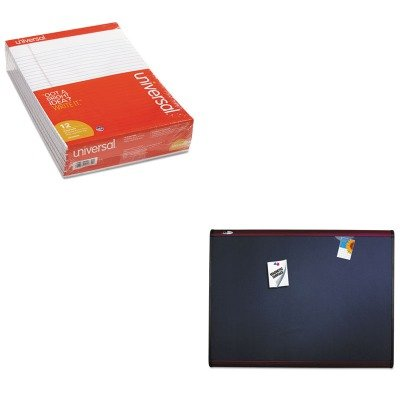 KITQRTMB547MUNV20630 - Value Kit - Quartet Prestige Plus Magnetic Fabric Bulletin Board (QRTMB547M) and Universal Perforated Edge Writing Pad (UNV20630) by Quartet