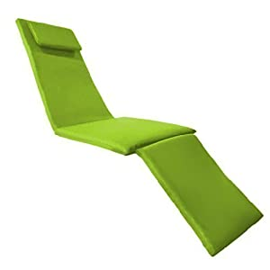 Lime Green Water Resistant Steamer Chair Cushion Pad *Lounger Not Included*