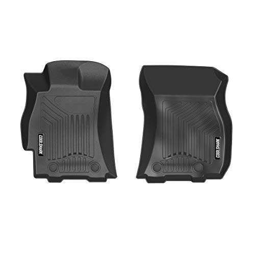 back Front Set Floor Mats, Waterproof Floor Liners Custom Fit for 2015-2019 Subaru Outback/Legacy,Front Row Only-All Weather Heavy Duty Rubber Floor Protection-Black ()
