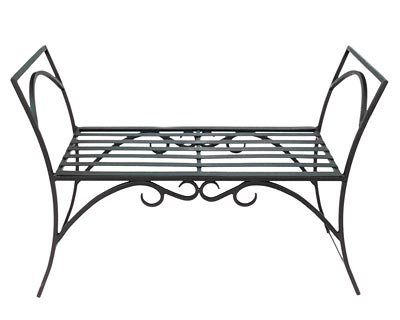 Wrought Iron Arbor Bench (Wrought Iron Outdoor Benches)