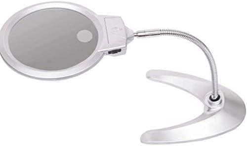 Lupa de mesa con luz, lente de acrílico, marco de ABS, 2 luces LED ...