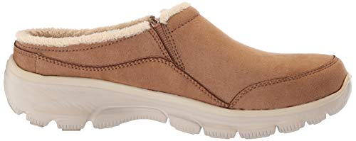 Skechers Women's Easy Going-Latte-Twin Gore Slip-On Open Back Mule, tan, 11 M US