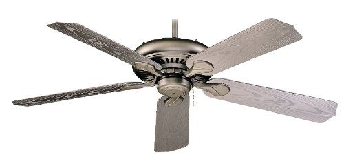 Royal Pacific 1017W-BP-ES Torrent 5-Blade 52-Inch Ceiling Fan, Brushed Pewter Grain ABS Blades For Outdoor Wet Location, Energy Star Rated by RP Lighting