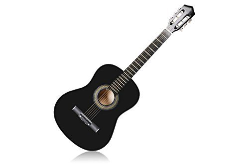 Acoustic Guitar Beginner Kit with Case, Tuner, Pick, Extra Strings, and Strap