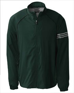 Adidas Golf A69 ClimaProof Mens 3-Stripes Full-Zip Jacket - Zucchini/Blk/Sterling - XX-Large