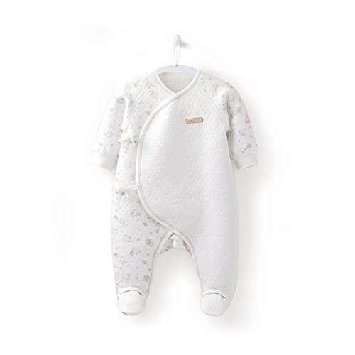 COBROO 100% Cotton Baby Footies Romper with Cute Animal Printing Autumn Winter Infant Baby Girl Boy Clothes 3-6 Months ()
