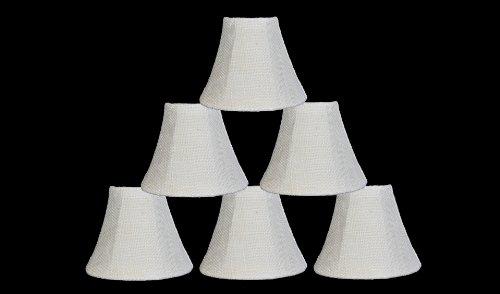 Urbanest 10000501c Chandelier Lamp Shade 6-inch, Bell, Clip