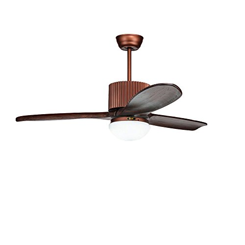 48 Inch RS Lighting Solid Wood Three Leaf Fan Lamp by RS Lighting