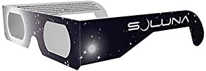 Soluna Solar Eclipse Glasses - CE and ISO Certified Safe Shades for Direct Sun Viewing, (10 Pack)