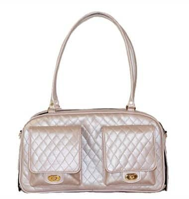 Petote Marlee Pet Carrier, Pink Quilted by Petote