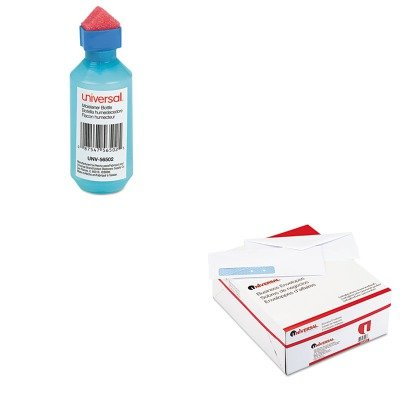 (KITUNV35203UNV56502 - Value Kit - Universal Security Tinted Window Business Envelope (UNV35203) and Universal Squeeze Bottle Moistener (UNV56502))