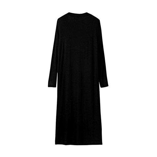 HARRYSTORE 2017 La chaqueta de la chaqueta del kaftan de Floaty de la rebeca maxi larga de la manga de las mujeres viste la blusa Negro