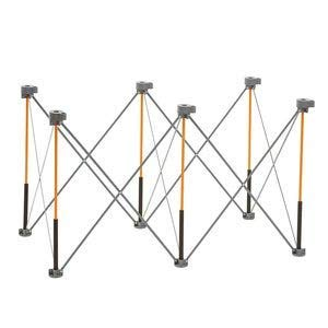 Bora Centipede 2x4 Feet Work Stand and Portable Table | Sawhorse Support with Folding, Collapsible Steel Legs, CK6S by Bora