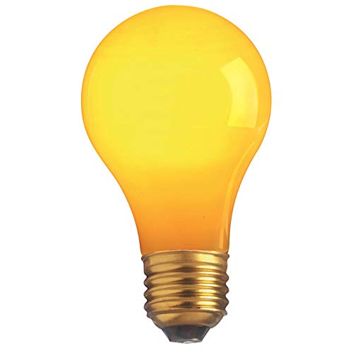 SATCO S6093 25A19 Party Bulb/Replacement Light Bulb Ceramic Yellow 25W 130V