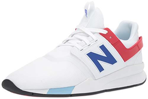 New Balance Men's 247v2 Sneaker, MUNSELL White/Team Royal, 4 D US