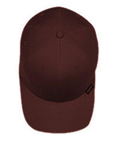 Yupoong Flexfit Hard Buckram Panels Mid-Profile Cap, Brown, Small / Medium