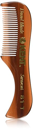 Kent 81T- Men's Handmade Beard/Moustache Comb, X-Small (Kent Combs Uk)