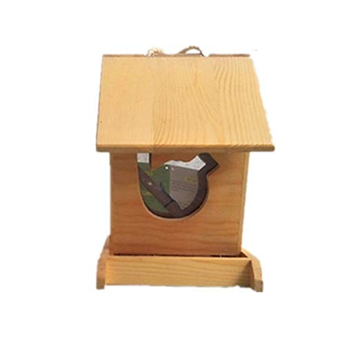 Yxsd Hanging Wooden Bird Table Heavy Duty Feeder Station