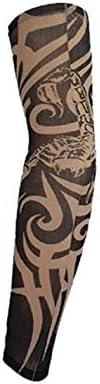 WANGYONGQI 1 PC Faux Tatouage Manchettes V/élo Manches en Nylon Hommes Femmes Enfant De Mode UV Protection Contre Le Soleil Conduite en Plein Air Conduite Manches