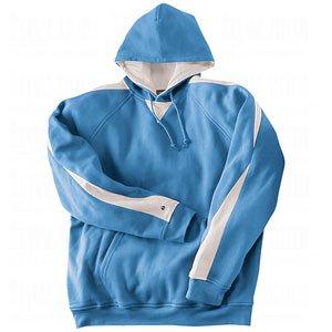Holloway Men's Bi-Color Renegade Hoodie (Large, Columbia Blue/White)