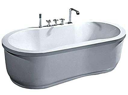Bathtub Jetted Whirlpool 67u0026quot; One Person Freestanding Hydrotherapy    White Finish   Massage Jets