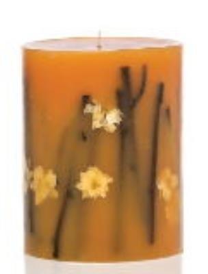 Rosy Rings Round Botanical Candle - Honey Tobacco