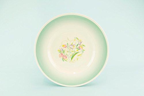 6 Susie Cooper Dinner Plates Green 1930s Art Deco