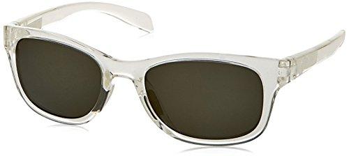 Native Eyewear Highline Polarized Sunglass, Crystal and White Frame/Gray - Sunglasses Mesa