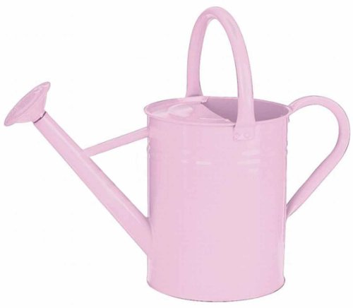 Gardman 8336 Galvanized Steel Watering Can, Soft Pink, 1-Gallon