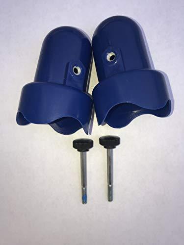 Skywalker Large Trampoline Enclosure Pole Caps, 2-pieces - Blue ()