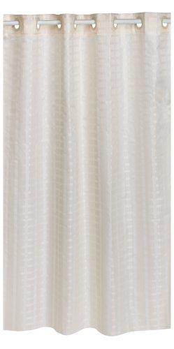 Amazon.com: Hookless Litchfield 71-by-74-Inch Shower Curtain, Beige ...