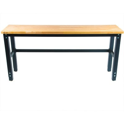 Wood Top Work Table - TRINITY TLS-7202 Wood Top Work Table, 72