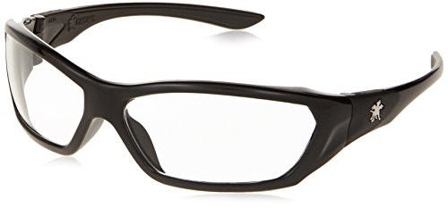 Crews ForceFlex FF120 Safety Glasses, Ballisitic Clear Lens, and Opaque Black Frame, 1 Pair