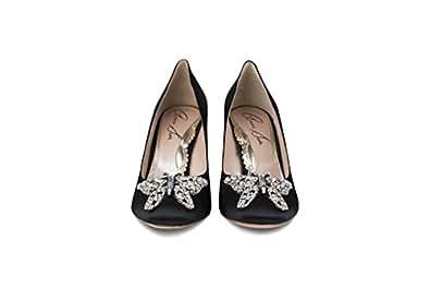 Aruna Seth - Zapatos de vestir de Satén para mujer negro negro 37,5 EU, color negro, talla 36 EU