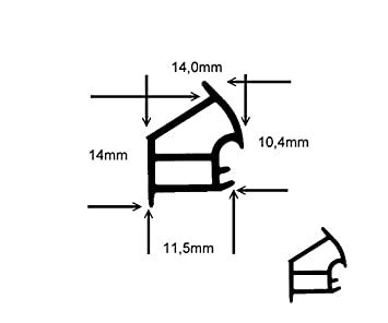 5m-Stahlzargendichtung T/ürdichtung WZ 1177 in Braun Weiss Farbe Weiss Grau
