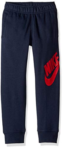 NIKE Children's Apparel Boys' Toddler Fleece Jogger Pants, Obsidian/Red, -
