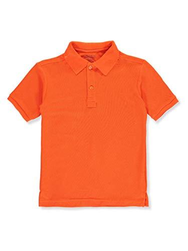 (Nautica Big Boys' School Uniform Pique Polo - Orange, 8)