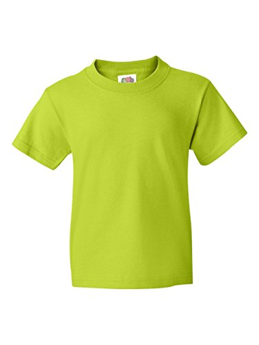FOL 3930B Youth Heavy Cotton T-Shirt, Neon Green, Extra Small (Adult T-shirt Neon)